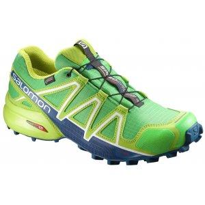 Pánské běžecké boty SALOMON SPEEDCROSS 4 GTX® L39843000 CLASSIC GREEN LIME  GREEN POSEIDON 51e4229bc8
