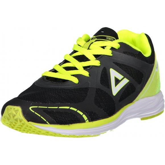 Pánská běžecká obuv PEAK FORMULA I E52247 ČERNÁ/ZÁŘIVÁ ŽLUTÁ