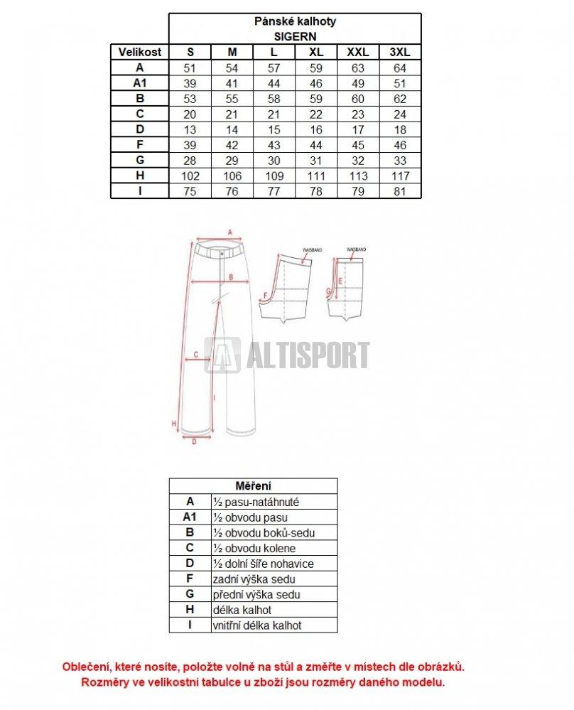 f03bc2ca135 Pánské tepláky ALPINE PRO SIGERN MPAL270 ČERNÁ velikost  L ...