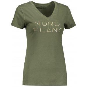 Dámské tričko NORDBLANC HUMBLE NBSLT6747 ZELENÝ SAD
