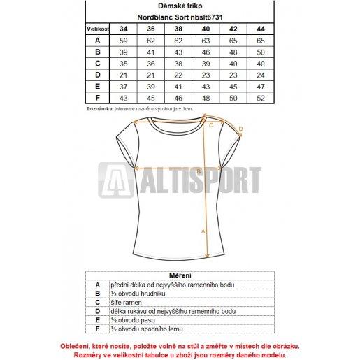 Dámské tričko NORDBLANC SORT NBSLT6731 MODRÁ AGÁVE