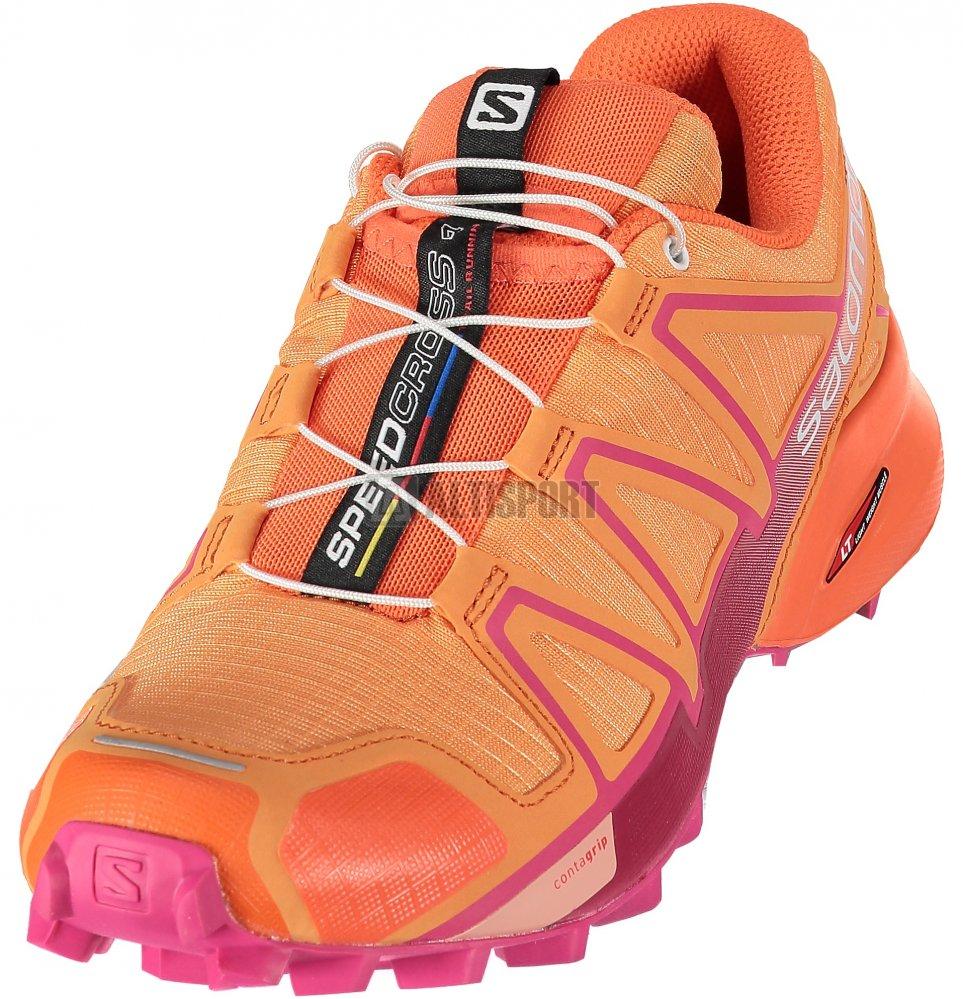 Dámské běžecké boty SALOMON SPEEDCROSS 4 W L40098500 BIRD OF  PARADISE NASTURTIUM PINK YARROW f26fabdf60