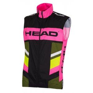 Dámská cyklistická vesta HEAD LADY WAISTCOAT TEAM D202 BLACK YELLOW PINK 07e95f78f5