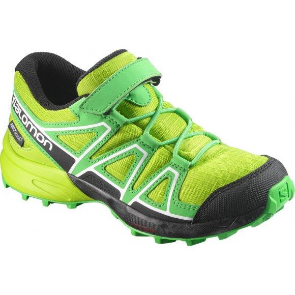Dětské běžecké boty SALOMON SPEEDCROSS CSWP K L39844000 LIME GREEN/CLASSIC GREEN/BLACK