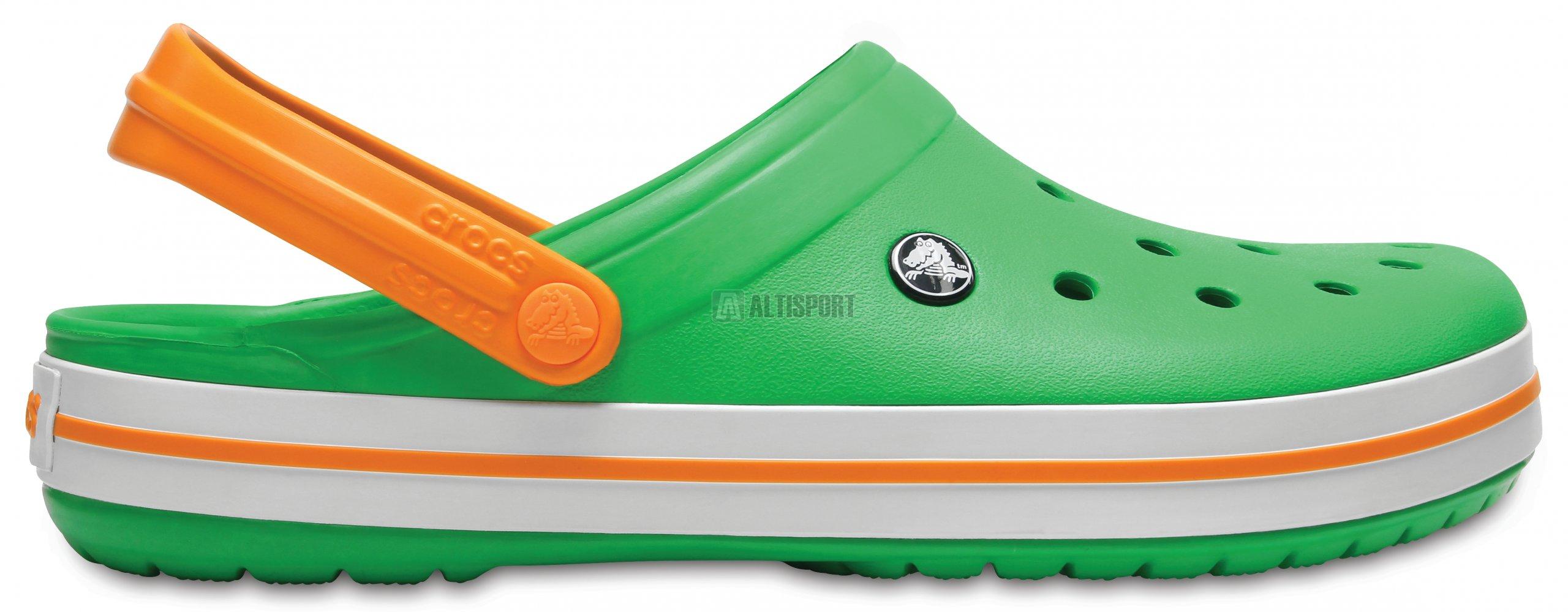 8071b4cc2bd Pánské pantofle CROCS CROCBAND CLOG 11016-3R4 GRASS GREEN WHITE BLAZING ORAN
