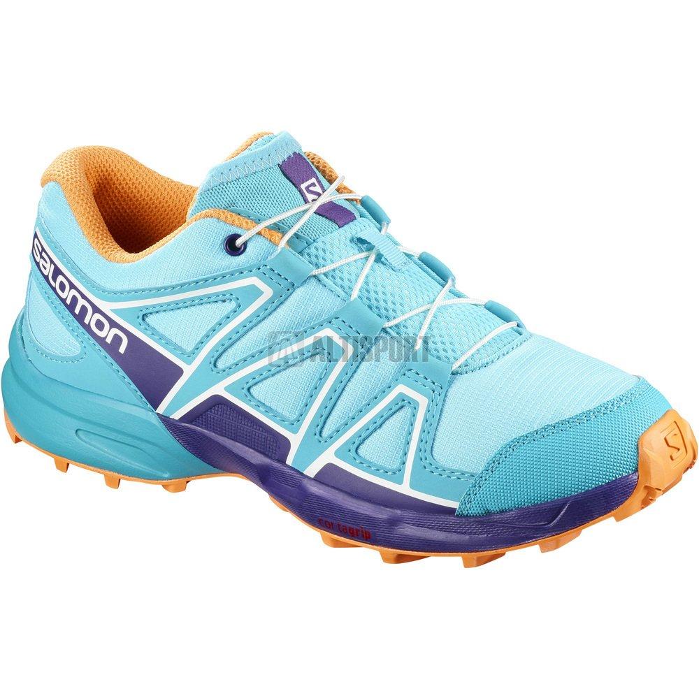 Dětské běžecké boty SALOMON SPEEDCROSS J L40130500 BLUE CURACAO ACAI BIRD  OF PARADISE 96f83eabe9