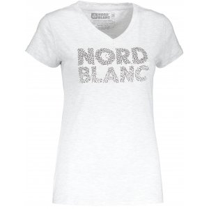 Dámské tričko NORDBLANC RATTLE NBSLT6737 SVĚTLE ŠEDÝ MELÍR