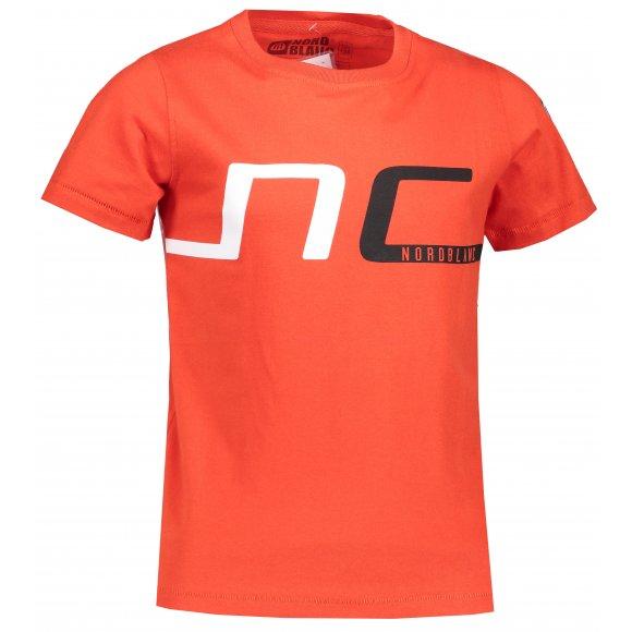 Chlapecké tričko NORDBLANC HAUL NBSKT6824S ZRALÁ ČERVENÁ