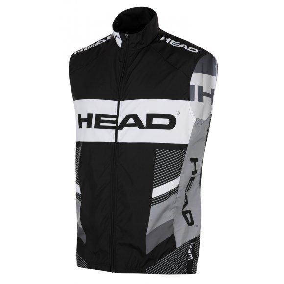 Pánská cyklistická vesta HEAD MEN WAISTCOAT TEAM D102 BLACK/GREY