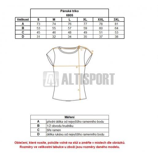 Pánské triko NORDBLANC INITIALS NBSMT6805 TEMNÁ MODRÁ