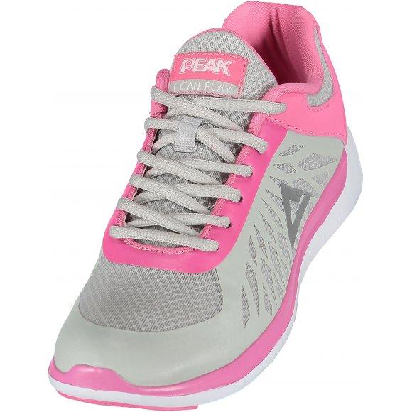 Dámská běžecká obuv PEAK RUNNING SHOES E61288H ŠEDÁ/RŮŽOVÁ