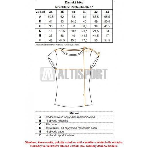 Dámské tričko NORDBLANC RATTLE NBSLT6737 ČERNÁ