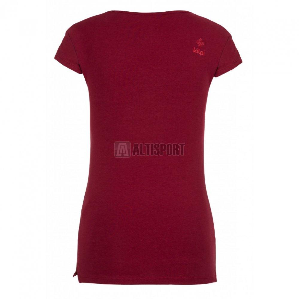 3958b7a1504e Dámské triko s krátkým rukávem KILPI FOXY-W IL0205KI TMAVĚ ČERVENÁ ...
