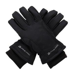 891445a00df Zimní softshellové rukavice ALPINE PRO KAHUG UGLM006 ČERNÁ