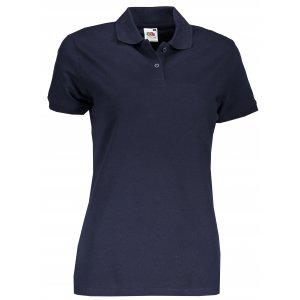 Dámské triko s límečkem FRUIT OF THE LOOM FIT POLO DEEP NAVY