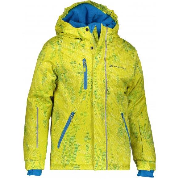 Dětská lyžařská bunda ALPINE PRO AGOSTO 2 KJCM123 ZELENÁ