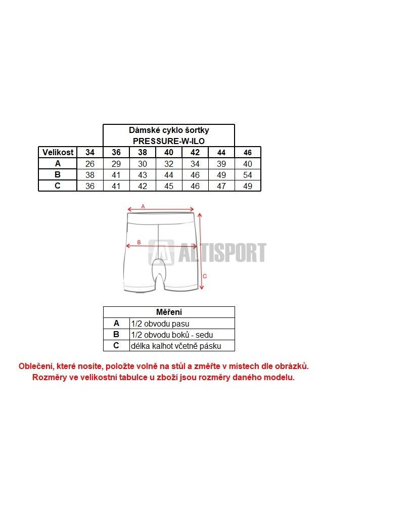 Dámské cyklo šortky KILPI PRESSURE-W IL0110KI ČERNÁ velikost  34 ... f9fd85e6b1