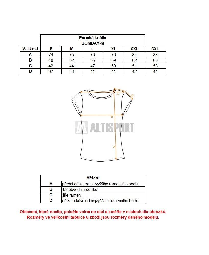 Pánská košile KILPI BOMBAY-M IM0151KI ORANŽOVÁ velikost  XS ... 02a9e27d9b