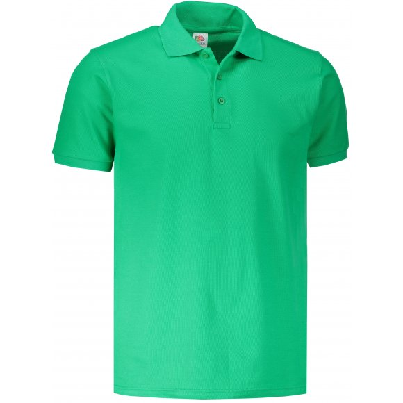 Pánské triko s límečkem FRUIT OF THE LOOM PREMIUM POLO KELLY GREEN