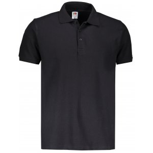Pánské triko s límečkem FRUIT OF THE LOOM PREMIUM POLO BLACK