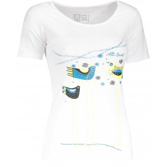 Dámské triko s krátkým rukávem ALTISPORT KAOLA ALLS18035 BÍLÁ