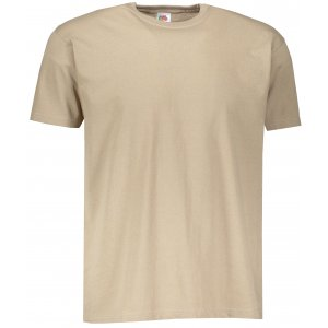 Pánské tričko FRUIT OF THE LOOM VALUEWEIGHT T KHAKI