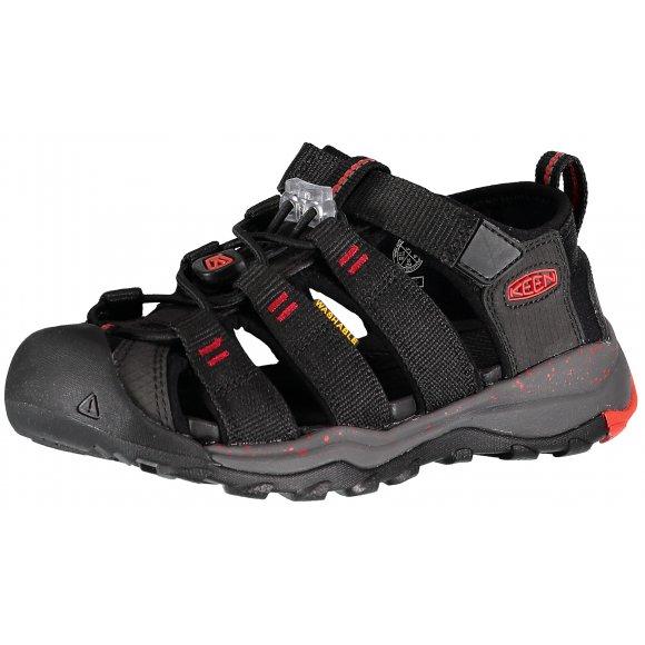 Dětské sandály KEEN NEWPORT NEO H2 JR BLACK/FIREY RED