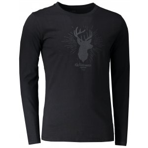 aa34b9b291f Pánské tričko s dlouhým rukávem HANNAH SKILL ANTHRACITE PRINT 1