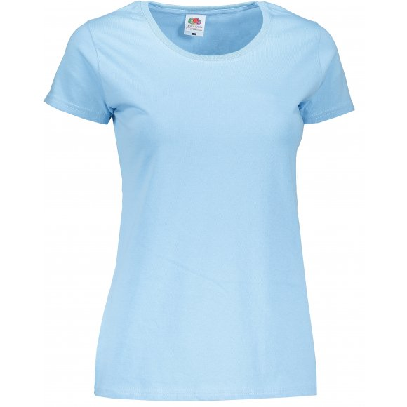 Dámské tričko FRUIT OF THE LOOM LADY FIT  SKY BLUE