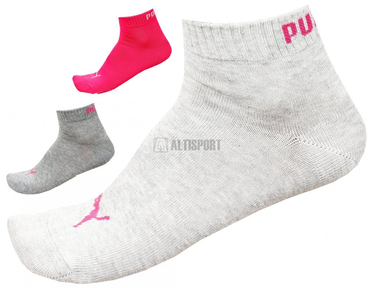 Sportovní ponožky PUMA QUARTER SOCKS 3 PAIR 88096884 MIDDLE GRAY ... 0830fb1816