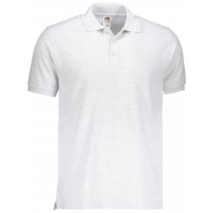 Pánské triko s límečkem FRUIT OF THE LOOM PREMIUM POLO HEATHER GREY