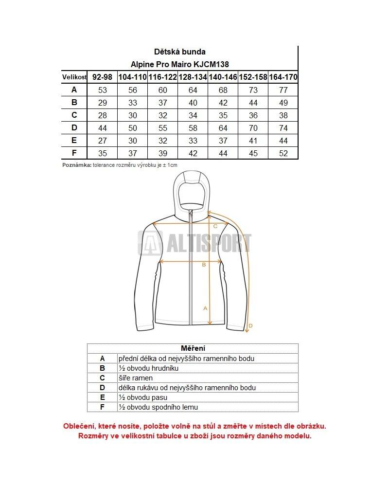 Dívčí zimní bunda ALPINE PRO MAIRO KJCM138 ČERNÁ velikost  152-158 ... 98a6f64592