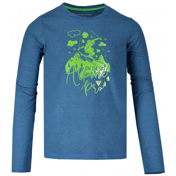 Dětské triko s dlouhým rukávem ALPINE PRO TEOFILO 7 KTSM137 MODRÁ