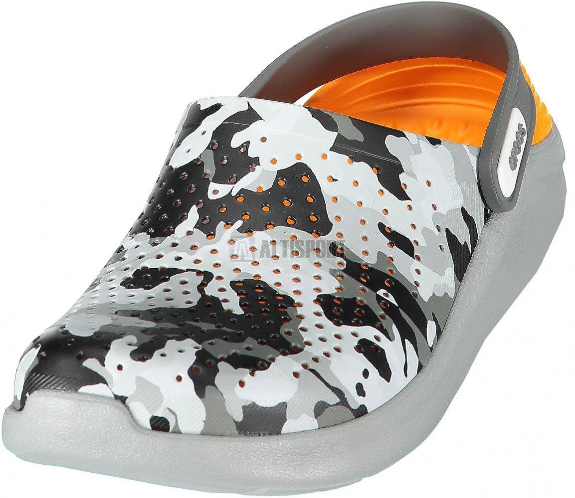 Pánské pantofle CROCS LITERIDE GRAPHIC CLOG 205359-97A CAMO LIGHT GREY a4ad5d9384