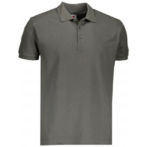 Pánské triko s límečkem FRUIT OF THE LOOM PREMIUM POLO LIGHT GRAPHITE