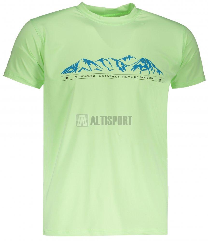 7b837c152a6b Pánské triko s krátkým rukávem SENSOR COOLMAX FRESH PT MOUNTAINS 18100028  SVĚTLE ZELENÁ
