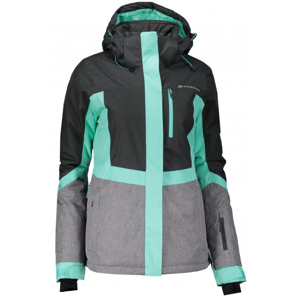 Dámská lyžařská bunda ALPINE PRO SARDARA 2 LJCM287 ŠEDOZELENÁ