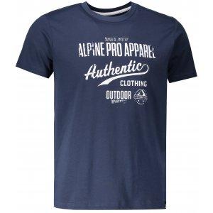 Pánské triko ALPINE PRO RONWEN MTSM368 TMAVĚ MODRÁ 968624b7038