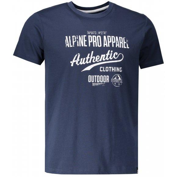 Pánské triko ALPINE PRO RONWEN MTSM368 TMAVĚ MODRÁ