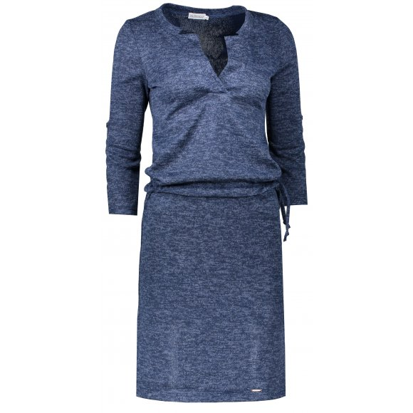 Dámské šaty NUMOCO A161-8 TMAVĚ MODRÁ