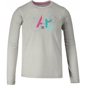 Dětské triko s dlouhým rukávem ALPINE PRO TEOFILO 6 KTSM125 SVĚTLE ŠEDÁ 873ee7f62d