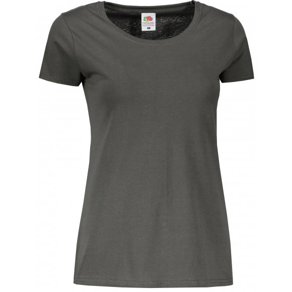 Dámské tričko FRUIT OF THE LOOM LADY FIT VALUEWEIGHT T LIGHT GRAPHITE
