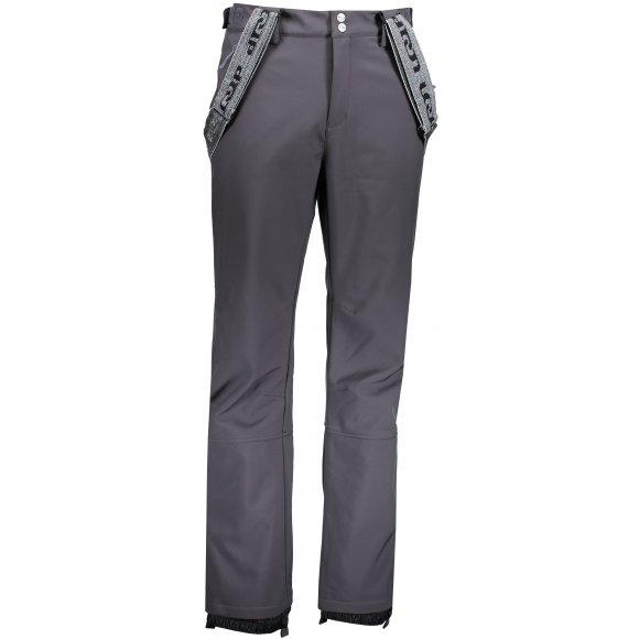 Pánské lyžařské softshellové kalhoty LOAP LEAM SFM1814 ŠEDÁ
