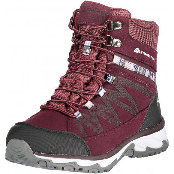 Dámská zimní obuv ALPINE PRO CAZA LBTM186 TMAVĚ RŮŽOVÁ