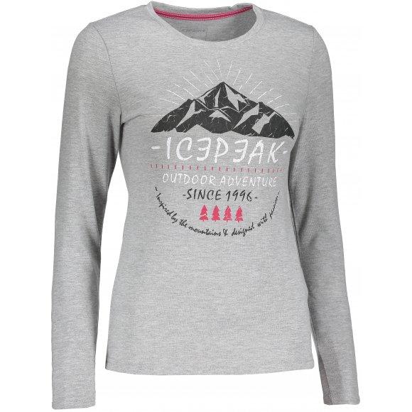 Dámské tričko ICEPEAK LEENA 54727689810 LIGHT GREY