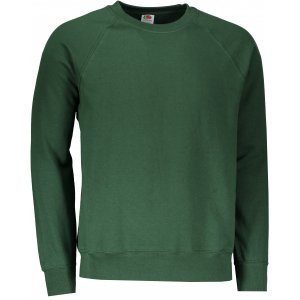 Pánská mikina FRUIT OF THE LOOM CLASSIC RAGLAN SWEAT BOTTLE GREEN 4ea7a632bf