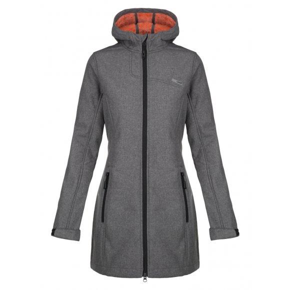 Dámský softhellový kabát LOAP LAVINIA SFW1814 ŠEDÁ