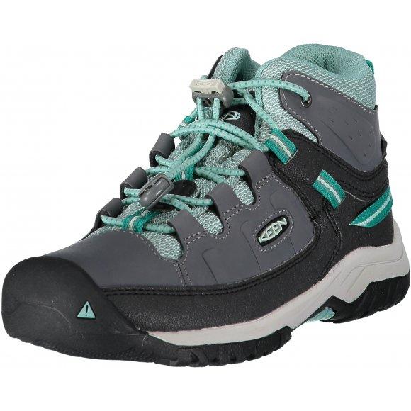 Dětské kotníkové boty KEEN TARGHEE MID WP Y STEEL GREY/WASABI