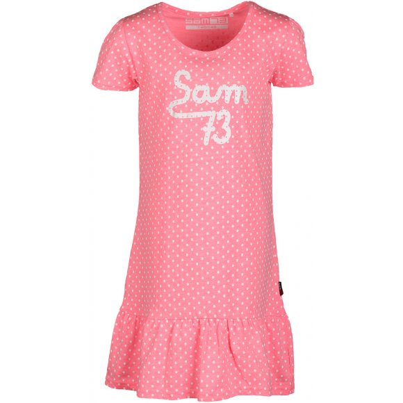 Dívčí šaty SAM 73 DEMETRA KSKL037 RŮŽOVÁ NEON