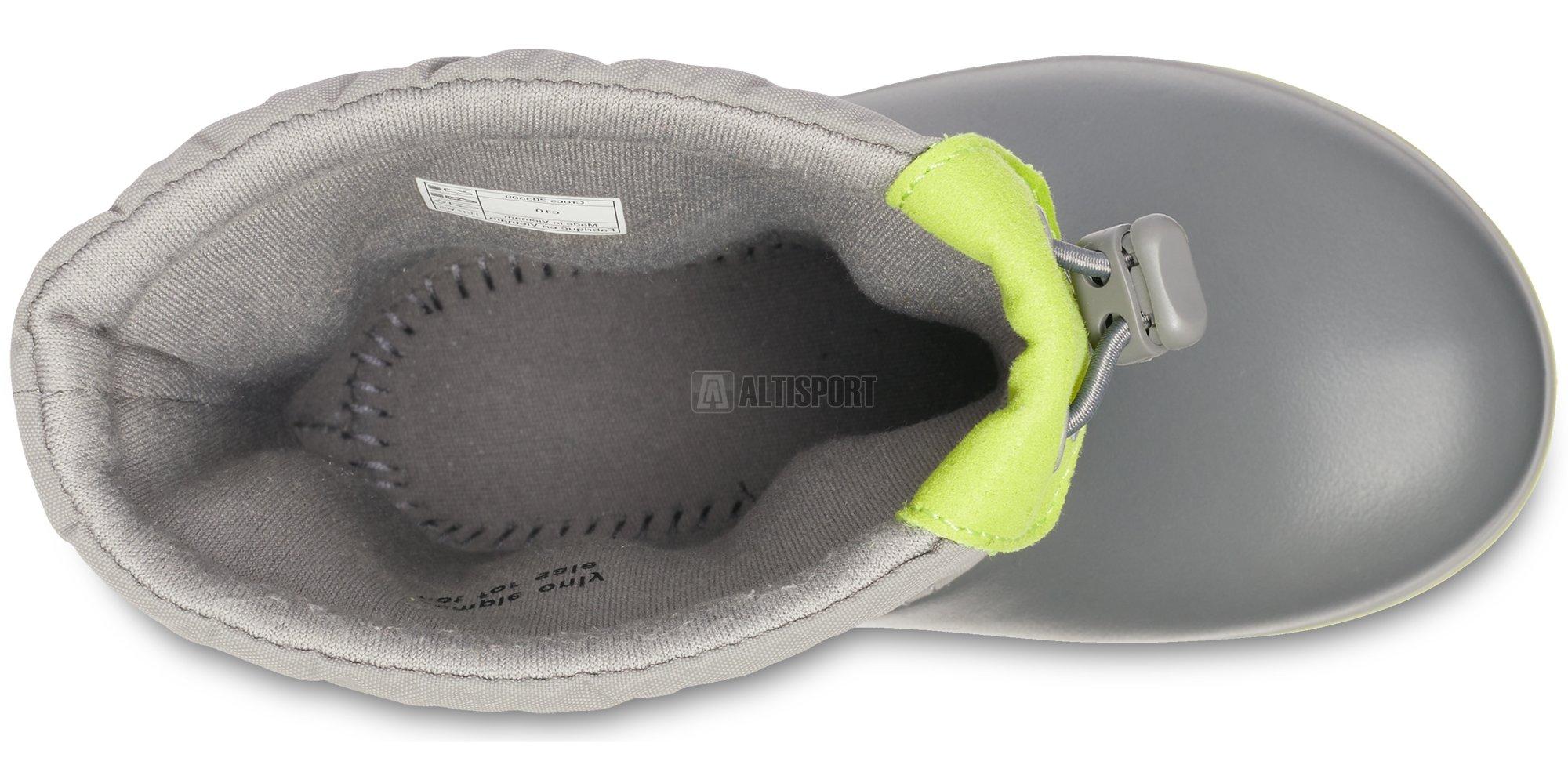 Dětské zimní boty CROCS KIDS CROCBAND LODGE POITN BOOT 203509-08G  CHARCOAL OCEAN 126a8fc1ab